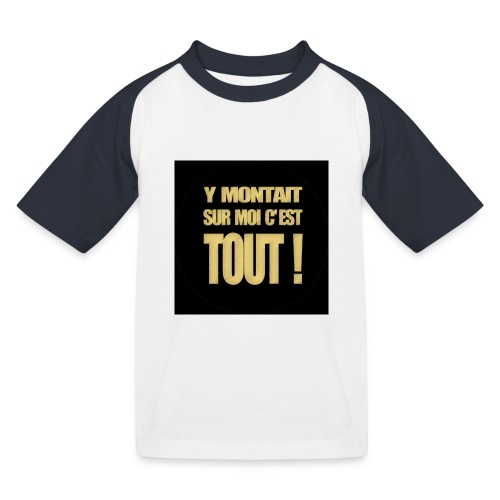badgemontaitsurmoi - T-shirt baseball Enfant