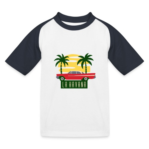 La Havana Vintage - Kinder Baseball T-Shirt