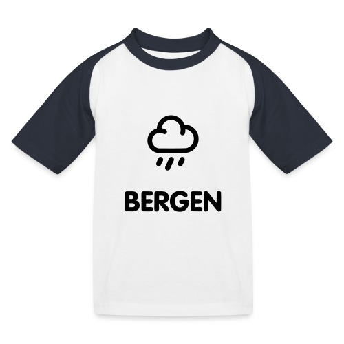 geo_1c_bergen - Baseball-T-skjorte for barn