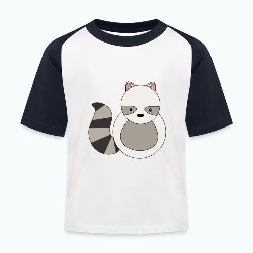 Ricko Raccoon - Appelsin - Baseboll-T-shirt barn