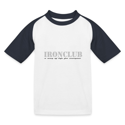 IRONCLUB - a way of life for everyone - Baseball-T-skjorte for barn