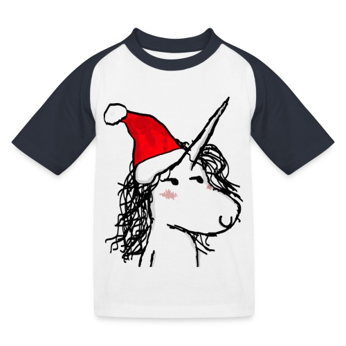unicorno Natale - Maglietta da baseball per bambini