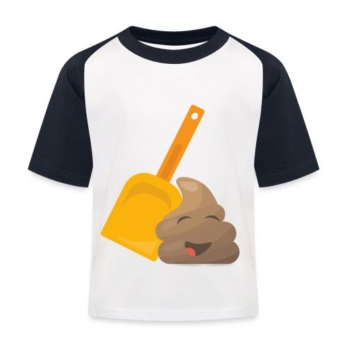 Funny Poop Emoji - Kids' Baseball T-Shirt