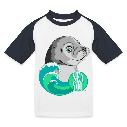 Sea You - Blue Waves - Kinder Baseball T-Shirt
