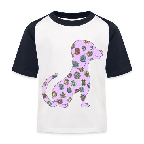 Lilo le chien fleuri - T-shirt baseball Enfant