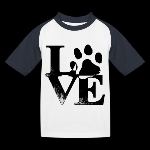 LOVE - T-shirt baseball Enfant