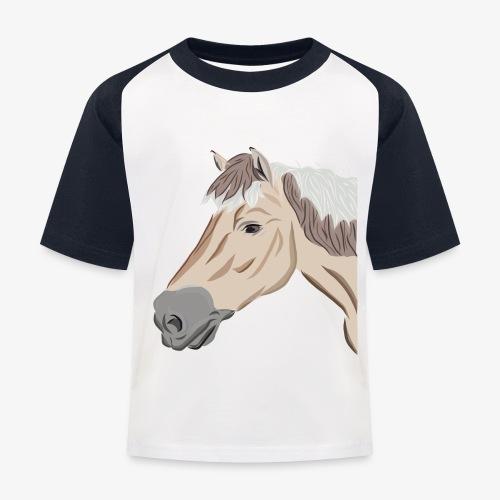 Fjord Pony - Kinder Baseball T-Shirt