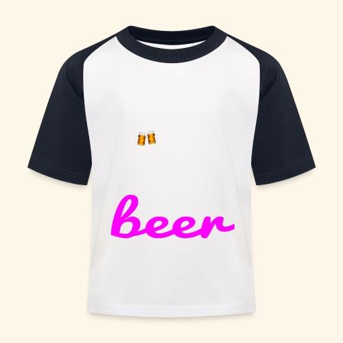 Birra Beer - Maglietta da baseball per bambini