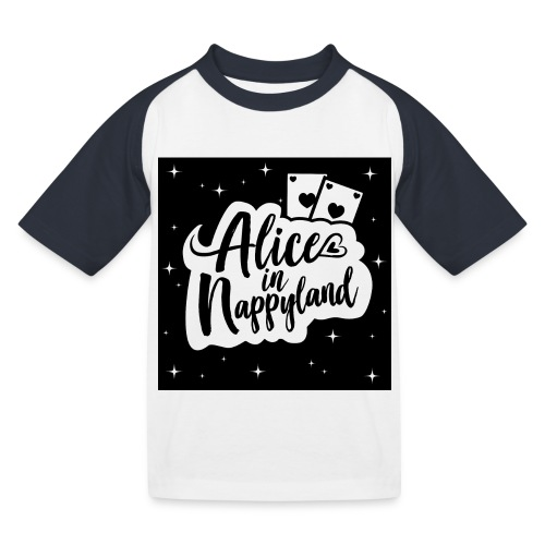 Alice in Nappyland 1 - Kids' Baseball T-Shirt