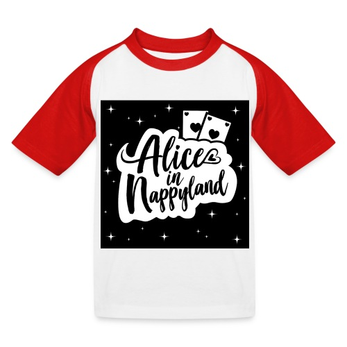 Alice in Nappyland 1 - Kids' Baseball T-Shirt