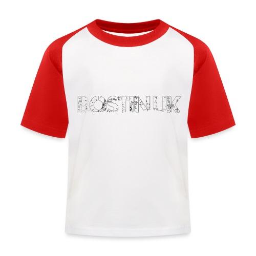 bostin uk white - Kids' Baseball T-Shirt