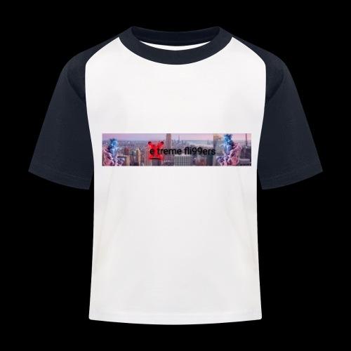 eXtreme fli99ers tryck på en tröja. - Baseboll-T-shirt barn