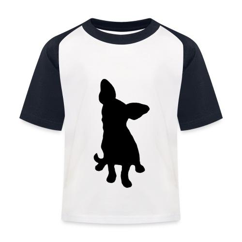 Chihuahua istuva musta - Lasten pesäpallo  -t-paita