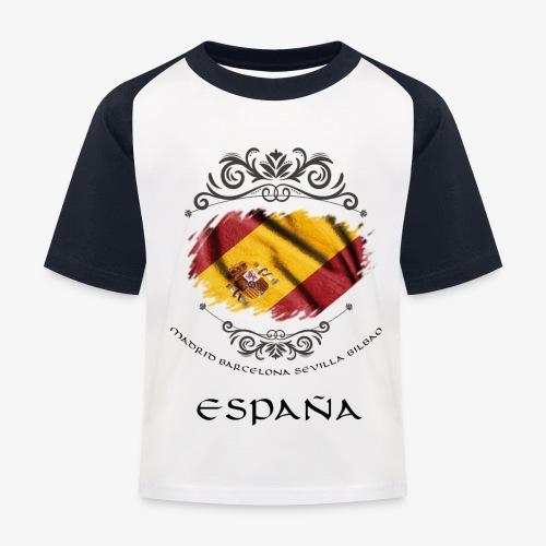 Spain Vintage Flag - Kinder Baseball T-Shirt
