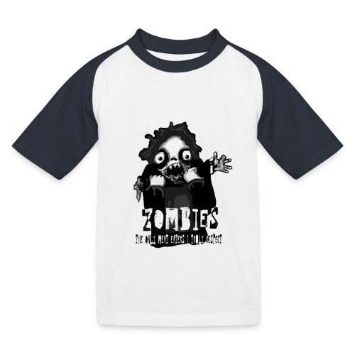 zombies - the only meat eaters i truly respect sv - Baseboll-T-shirt barn