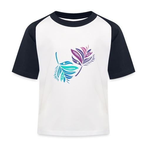 foglie geometriche - Maglietta da baseball per bambini