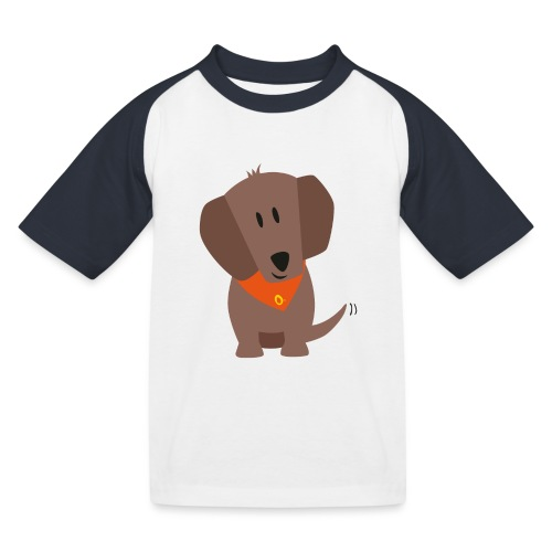 Dackel Oskar - Kinder Baseball T-Shirt