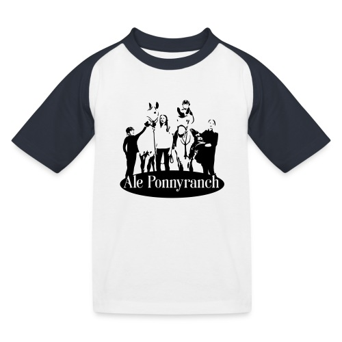 Ale Ponnyranch - Baseboll-T-shirt barn
