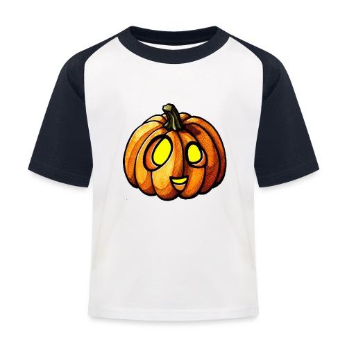 Pumpkin Halloween watercolor scribblesirii - Kinder Baseball T-Shirt