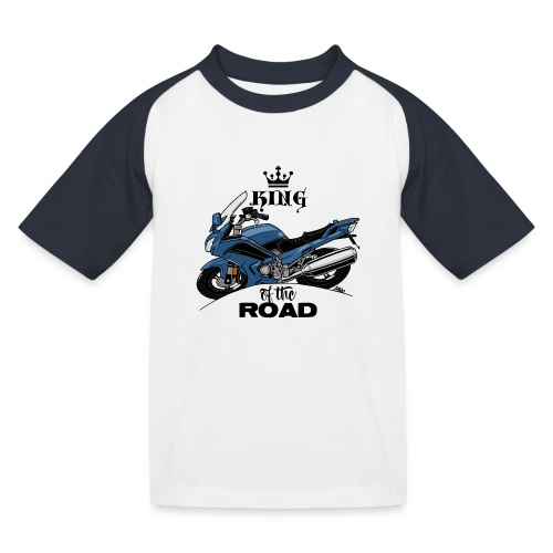 0885 FJR KING of the ROAD (blauw) - Kinderen baseball T-shirt
