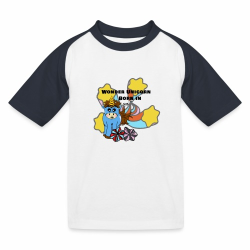 Une merveilleuse licorne est née (pour garcon) - T-shirt baseball Enfant