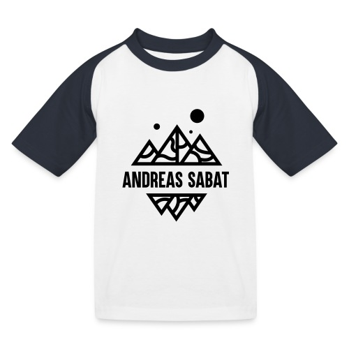 sabat logo black - Baseball T-shirt til børn