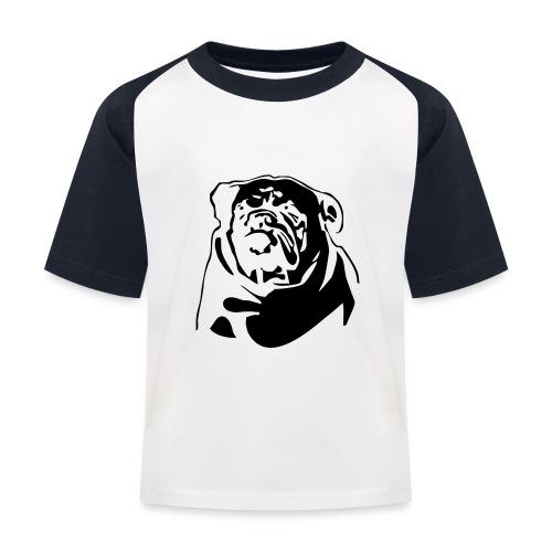 English Bulldog - negative - Lasten pesäpallo  -t-paita