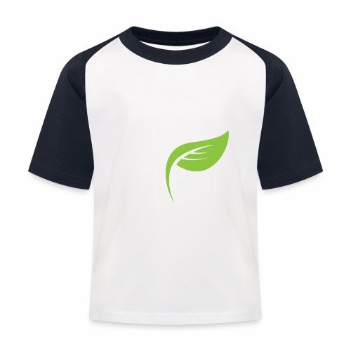 DrGreen Logo Symbol weiss grün - Kinder Baseball T-Shirt