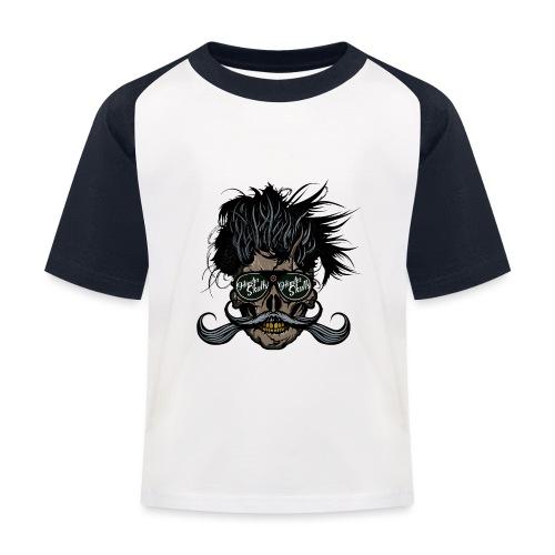 hipster skull tete de mort crane barbu moustache - T-shirt baseball Enfant