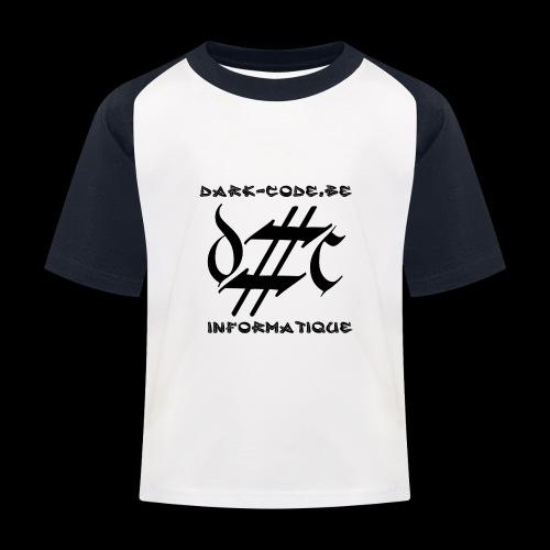 Dark-Code Black Gothic Logo - T-shirt baseball Enfant