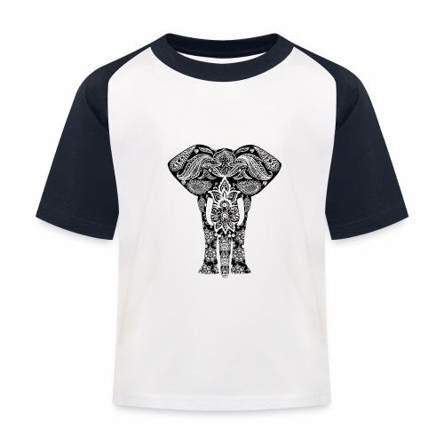 Ażurowy słoń - Koszulka bejsbolowa dziecięca