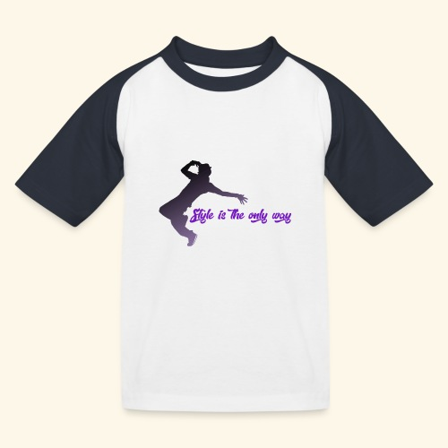 Style is the new life - Maglietta da baseball per bambini