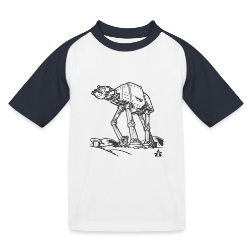 AT AT Walker ligne d'esquisse - T-shirt baseball Enfant