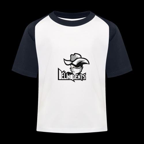 Delinquents TriColor - Baseball T-shirt til børn