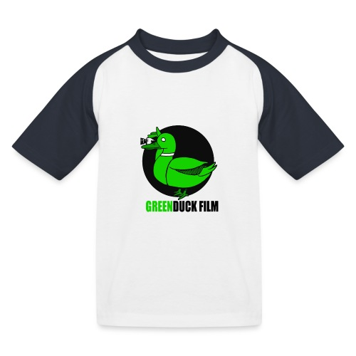 Greenduck Film Logo w. black letters - Baseball T-shirt til børn