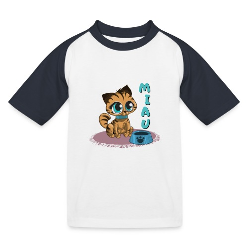 Miau - Kinder Baseball T-Shirt