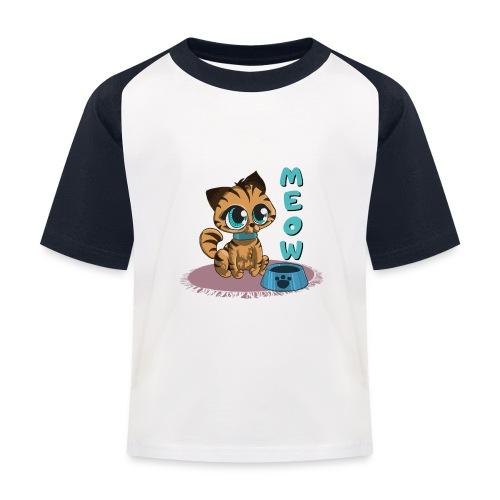 Meow - Kinder Baseball T-Shirt