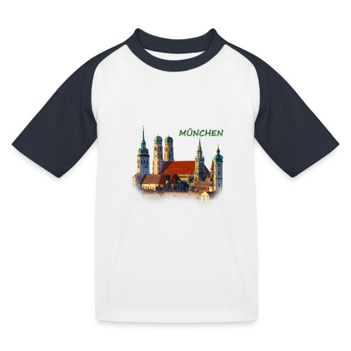 München Frauenkirche - Kinder Baseball T-Shirt
