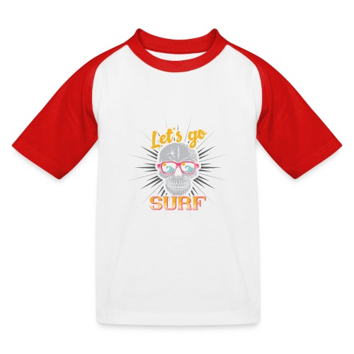 Surf till Death - Kinder Baseball T-Shirt