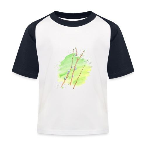 Weidenkätzchen - Kinder Baseball T-Shirt