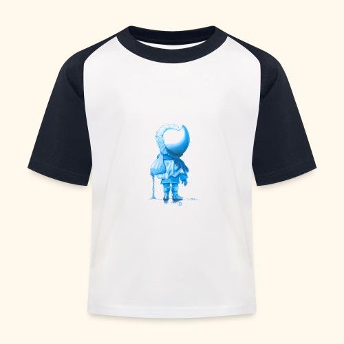 Unser Sandmännchen von hinten blau - Kinder Baseball T-Shirt