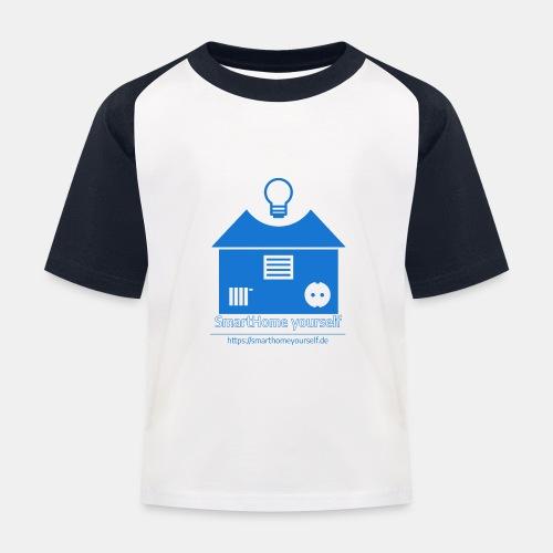 SmartHome yourself Logo Groß - Kinder Baseball T-Shirt