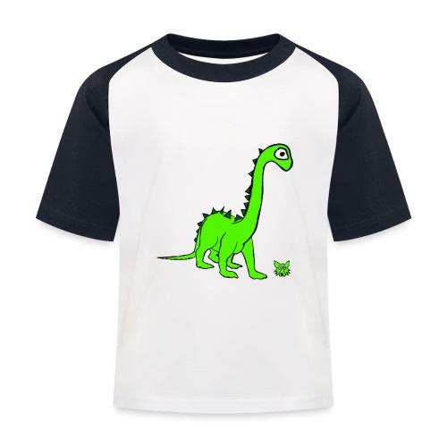 dinosauro - Maglietta da baseball per bambini