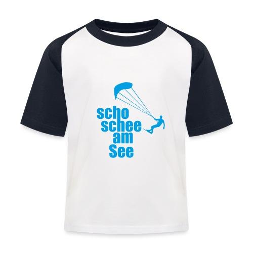 scho schee am See Surfer 01 kite surfer - Kinder Baseball T-Shirt