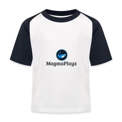 MagmaPlayz shark - Baseball T-shirt til børn