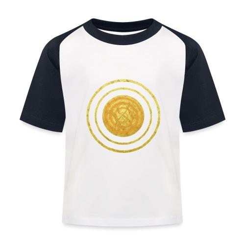Glückssymbol Sonne - positive Schwingung - Spirale - Kinder Baseball T-Shirt