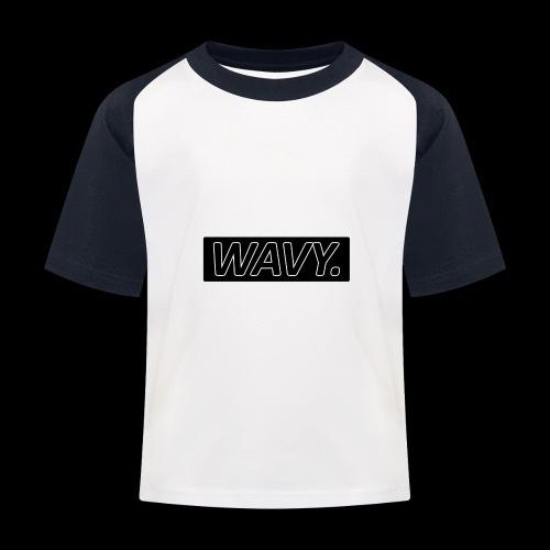 BLACK WAVY. RECTANGLE - T-shirt baseball Enfant