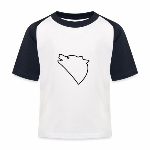 Wolf baul logo - Kinderen baseball T-shirt
