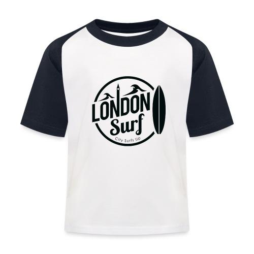 London Surf - Black - Kids' Baseball T-Shirt