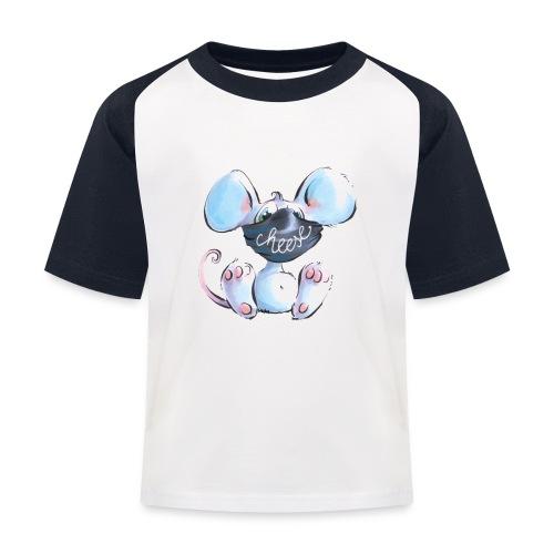Maskenmaus - Kinder Baseball T-Shirt